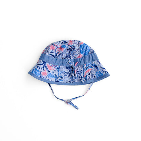 Plum Baby Girl Floral Sun Hat ON SALE