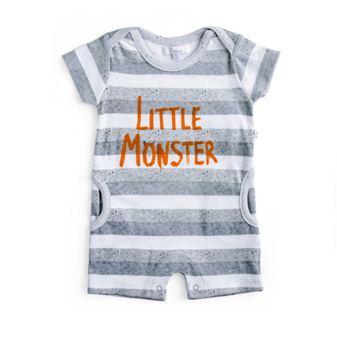 Plum Precious Baby Boy Little Monster Romper ON SALE
