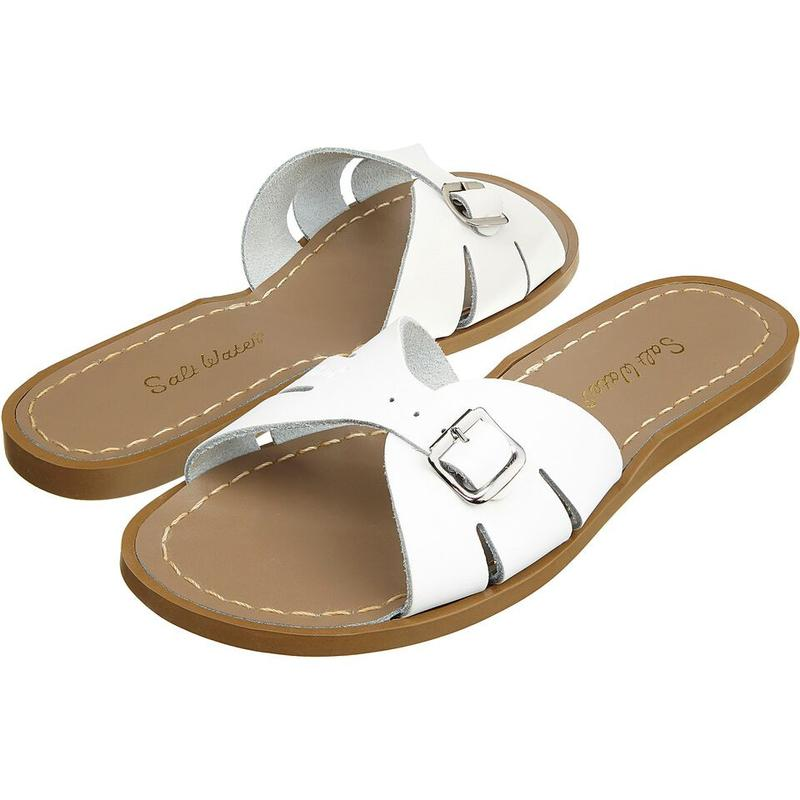 Salt Water Sandal Classic Slide White - Youth and Adult