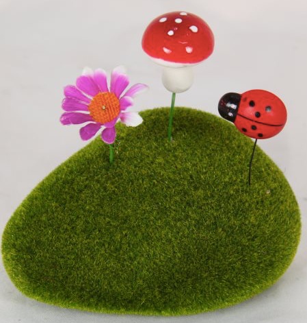 Mossy Fairy garden rock - Prairie Lane Boutique for Kids