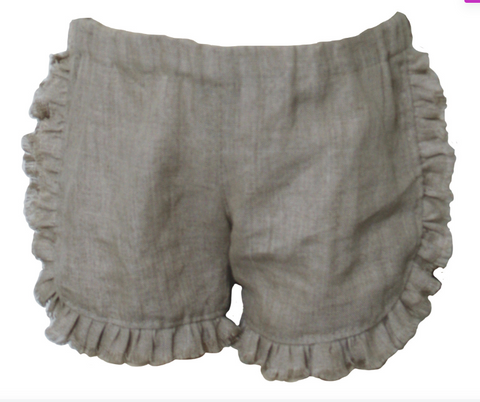 Mii Love Mu Girls Linen Shorts - Prairie Lane Boutique for Kids