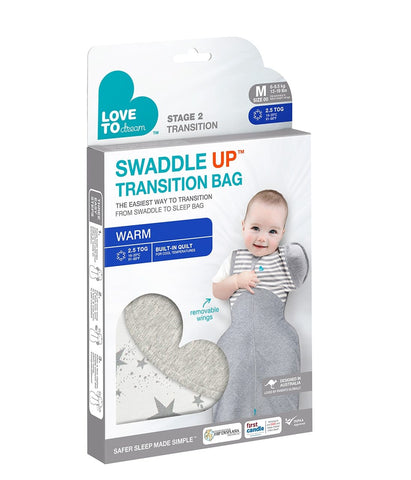 Love to Dream Swaddle up Transition Bag WARM White 2.5TOG 3months - 12months