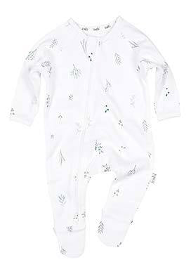 Toshi Long Sleeve Onesie Leaves