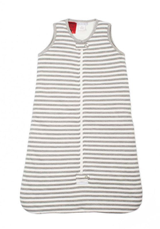 Uh-Oh Sleeveless Sleeping Bag Grey Stripe -  2.5 tog