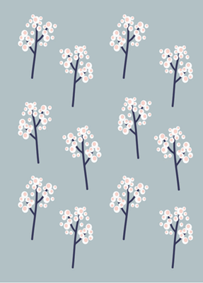 Kenzi Living Cherry Blossom Blanket