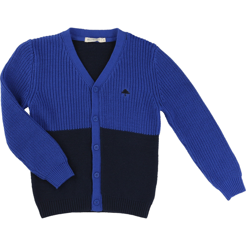 Billybandit Boys Knitted Cardigan in Electric Blue
