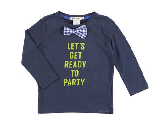 Billybandit Boys Long Sleeve Ready to Party Tee in Navy - Prairie Lane Boutique for Kids