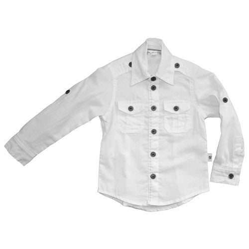 Daisy and Moose Boys White Dress Shirt