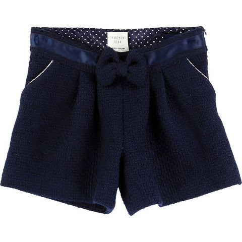 Carrement Beau Girls Wool Shorts in Navy - Prairie Lane Boutique for Kids