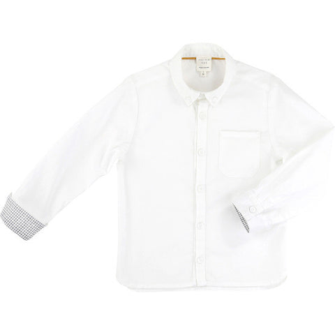 Carrement Beau Boys Dress Shirt in White