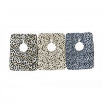 Animal Print Square Bib