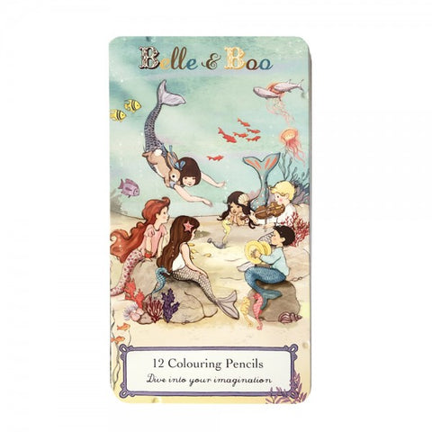 Belle and Boo Mermaid Pencil Tin