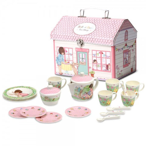 Belle & Boo Birthday Surprise Tea Set 19 Piece Melamine Tea set