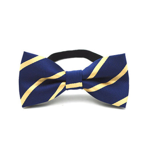 Bow Tie - Navy with Gold Stripe