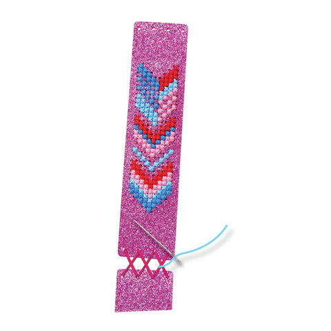 DIY Pink Cross Stitch Bracelet