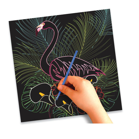 DIY Scratch Art Birds