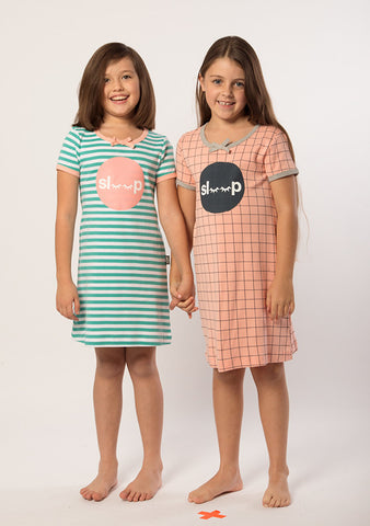 E3M (eeni meeni) SALE Girl Nightie - Cactus & White Sleep
