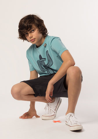 E3M (eeni meeni) SALE Boy Signature T-Shirt - Cactus Tide