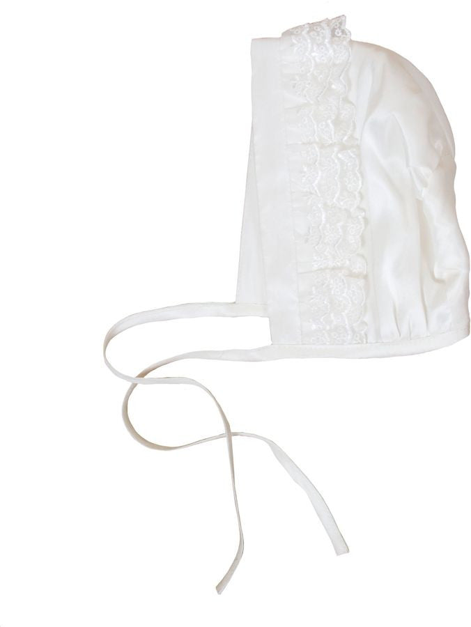 Heritage Unisex Zeynah Christening Bonnet - Ivory - Prairie Lane Boutique for Kids