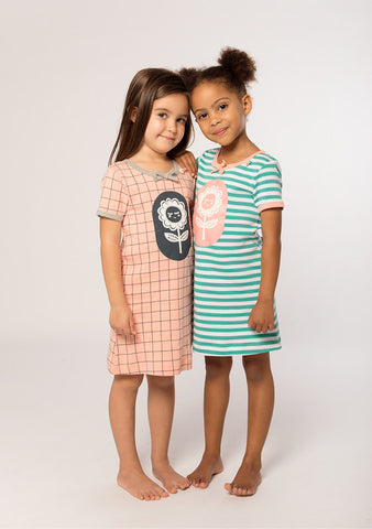 E3M (eeni meeni) SALE Girl Nightie - Cactus & White Flower - Prairie Lane Boutique for Kids