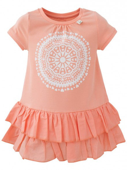 Eeni Meeni SALE Girl Ra Ra Dress - Peach - Prairie Lane Boutique for Kids