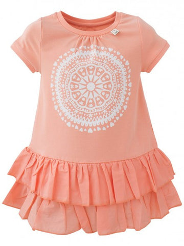 Eeni Meeni SALE Girl Ra Ra Dress - Peach