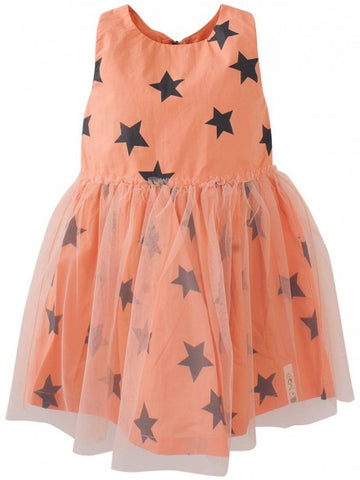 Eeni Meeni Girl Tulle Dress - Peach & Indigo - Prairie Lane Boutique for Kids