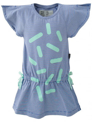 E3M (eeni meeni) SALE Girl Batwing Dress - Ultramarine & Pure White - Prairie Lane Boutique for Kids