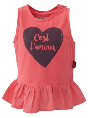 E3M (eeni meeni) SALE Girl Peplum Top - Neon Red - Cést Lámour - Prairie Lane Boutique for Kids