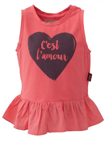 E3M (eeni meeni) SALE Girl Peplum Top - Neon Red - Cést Lámour