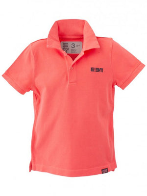 E3M (eeni meeni) SALE Boy Polo T-Shirt - Neon Red - Prairie Lane Boutique for Kids