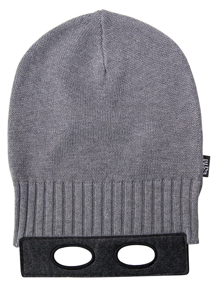 Eeni Meeni SALE AW17 Beanie Mask (Charcoal Marle + Noir Marle) - Prairie Lane Boutique for Kids