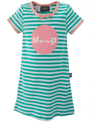 E3M (eeni meeni) SALE Girl Nightie - Cactus & White Sleep - Prairie Lane Boutique for Kids