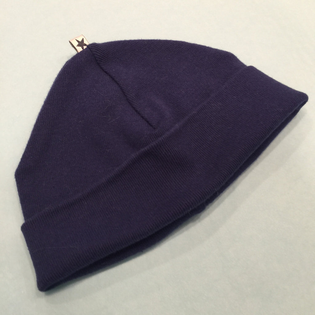 uh-oh baby Navy Blue Cotton Beanie - Prairie Lane Boutique for Kids