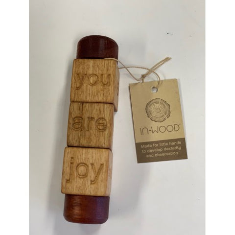 In Wood Mindful Spindle Baby toy