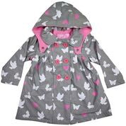 Korango Rainwear Birds and Butterflies Colour Changing Raincoat Grey