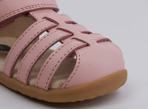 Bobux Step Up Jump Closed Sandal Seashell Pink - Prairie Lane Boutique for Kids