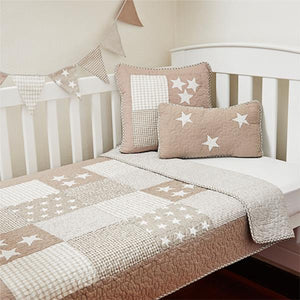 Linens 'n' Things Lachlan Natural Cot Quilt - Prairie Lane Boutique for Kids