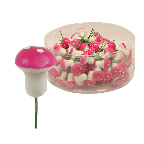 Mushroom stem small for Fairy Garden bundle x 5 Stems assorted colours - Prairie Lane Boutique for Kids