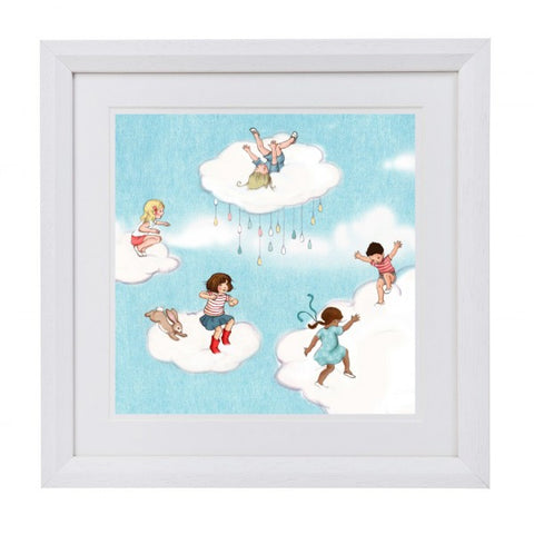 "Belle & Boo Framed Art Print ""Cloud Jumping"""