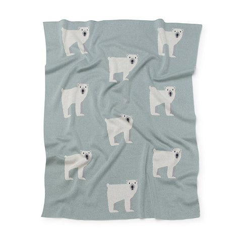 Kenzi Living - Polar Bear Baby Blanket - Mint