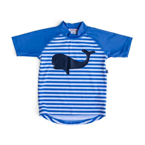 Plum Boys Whale Short Sleeve Rashie ON SALE