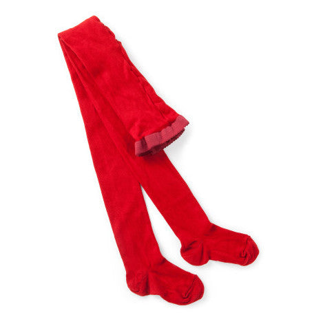 Columbine Cotton Tights - Red - Prairie Lane Boutique for Kids
