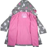 Korango Rainwear Birds and Butterflies Colour Changing Raincoat Grey - Prairie Lane Boutique for Kids