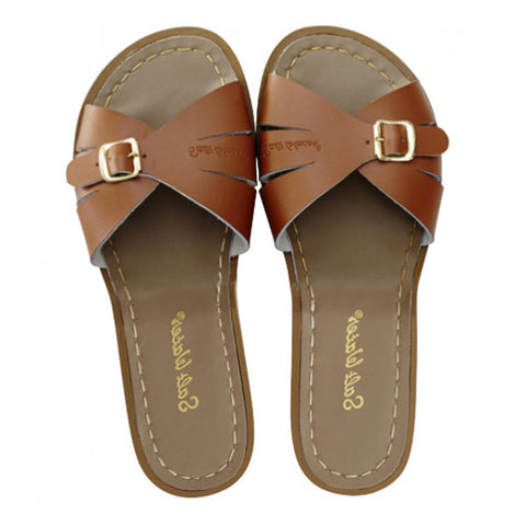 Salt Water Sandal Classic Slide Tan - Youth and Adult