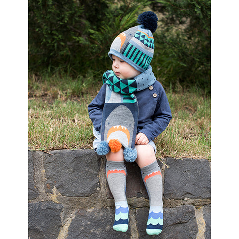 Billy Loves Audrey Shark Scarf ON SALE - Prairie Lane Boutique for Kids