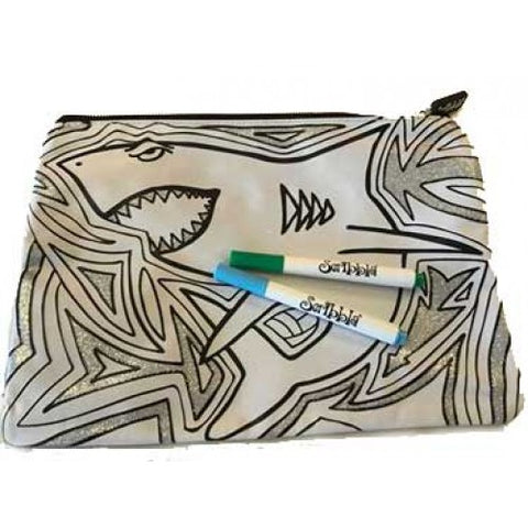 Colouring in Pencil Case Shark