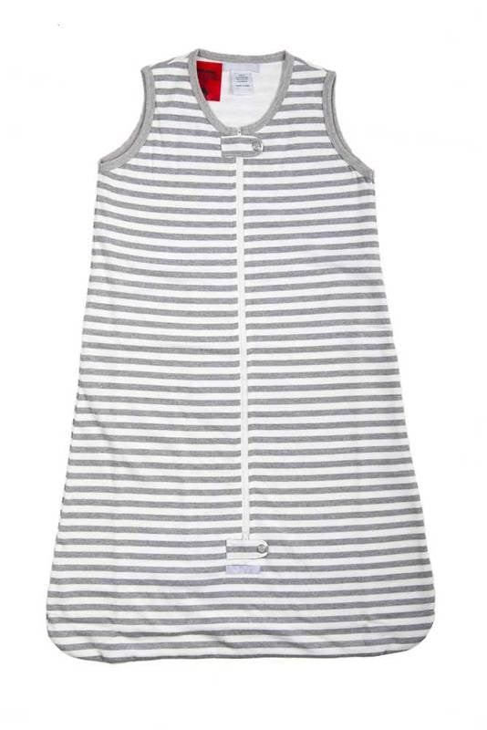 Uh-Oh Sleeping Bag Grey Stripe -  0.5 tog - Prairie Lane Boutique for Kids