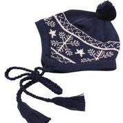 Korango ON SALE AW17 Girls Snowflakes Beanie - Navy