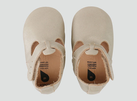 Bobux Soft Sole T-Bar - Gold